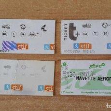 Coleccionismo Billetes de transporte: LOTE 4 BILLETES TRANSPORTE BUS - METRO DE PARÍS (VER FOTO ADICIONAL). Lote 72777611
