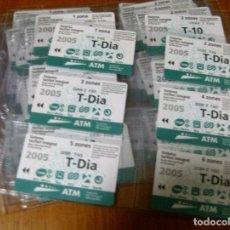 Coleccionismo Billetes de transporte: A T M , T M B - AÑO 2005. COMPLETO CON SUS 42 TARJETAS BILLETE DE TRANSPORTE (ORIGINALES SIN USAR). Lote 159312073