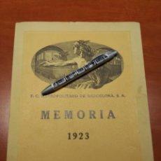 Coleccionismo Billetes de transporte: MEMORIA FERROCARRIL METROPOLITANO DE BARCELONA EL TRANSVERSAL AÑO 1923. Lote 74182619