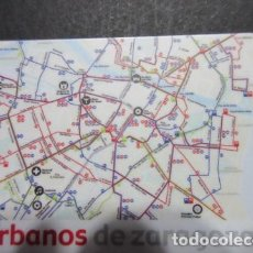 Coleccionismo Billetes de transporte: TARJETA PLASTICO URBANOS DE ZARAGOZA TRASERA MAPA LINEAS. Lote 75631663