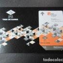 Coleccionismo Billetes de transporte: TARJETA TAMAÑO POSTAL 150 AÑOS TREN DE SARRIA CON TARJETA BILLETE CONMEMORATIVO. Lote 75777407