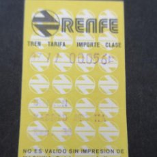 Coleccionismo Billetes de transporte: BILLETE RENFE HUGIN AÑO 1978 - MODELO 2 - MADRID ATOCHA. Lote 77591449