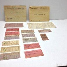 Coleccionismo Billetes de transporte: LOTE DE BILLETES TRANVIAS , AUTOBUSES , TREN Y VARIOS . Lote 78024141