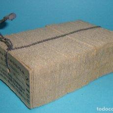 Coleccionismo Billetes de transporte: (TC-47) LOTE DE 100 BILLETES CORRELATIVOS CONTRASEÑA BILLETES COLECTIVOS CON PRECINTO PLOMO RENFE. Lote 78134109