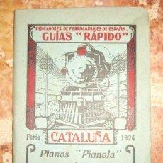 Coleccionismo Billetes de transporte: GUIAS RAPIDO DE FERROCARRILES DE CATALUÑA 1924. Lote 79609049
