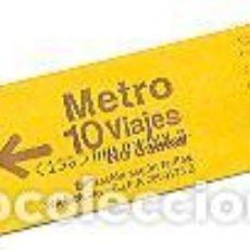 Coleccionismo Billetes de transporte: BILLETE DE METRO DE MADRID. 10 VIAJES. COLOR AMARILLO. ENVÍO: 1,30 € *.. Lote 80011241