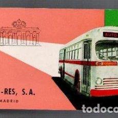 Coleccionismo Billetes de transporte: BILLETE AUTO RES,, AÑOS 60. Lote 81014024