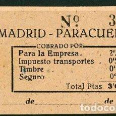 Coleccionismo Billetes de transporte: BILLETE EMPRESA MUÑOZ // MADRID - PARACUELLOS // AÑOS 40 // Z19. Lote 84550422