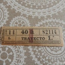 Coleccionismo Billetes de transporte: BILLETE NESAL - SAN SEBASTIAN - 40 CÉNTIMOS - TRAYECTO 1º. Lote 83800712