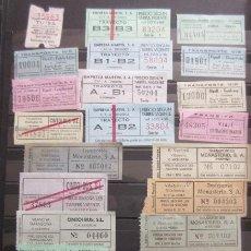 Coleccionismo Billetes de transporte: COLECCION DE 111 BILLETES DIFERENTES - VER FOTOS INTERIOR DIFERENTES EMPPRESAS DE ESPAÑA. Lote 84502104
