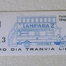 Coleccionismo Billetes de transporte: BARCELONA. ÚLTIMO DÍA TRANVÍA 54.. Lote 84577096
