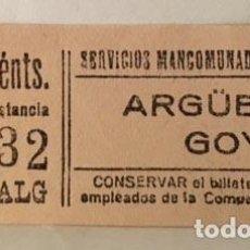 Coleccionismo Billetes de transporte: ANTIGUO TICKET. METRO ARGÜELLES-GOYA (METRO DE MADRID) . Lote 84779872