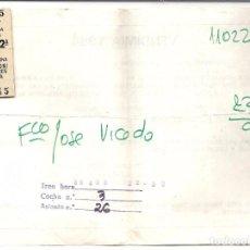 Coleccionismo Billetes de transporte: BILLETE TREN VENDIMIADORES.1984. Lote 84848420