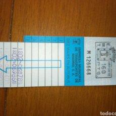 Coleccionismo Billetes de transporte: EMT MADRID BONOBUS 6 VIAJES SIN USAR 160 PESETAS AUTOBUS. Lote 85219844