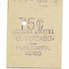 Coleccionismo Billetes de transporte: (BT-170401)BILLETE 75 CTS.SOCIEDAD ANONIMA EL TIBIDABO. Lote 86403967
