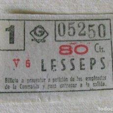 Coleccionismo Billetes de transporte: CAPICUA. 1 BILLETE DE METRO DE BARCELONA (GRAN METRO).. Lote 86417164