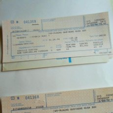 Coleccionismo Billetes de transporte: DOS BILLETES RENFE PARIS HENDAYA - HENDAYA PARIS - 1994. Lote 86641400