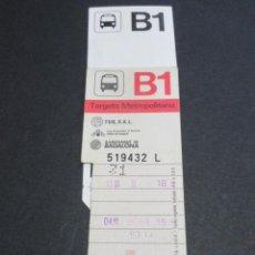 Coleccionismo Billetes de transporte: TARJETA RESISTIVA TUB SAL BADALONA - B1 ROJA SIN PUBLICIDAD. Lote 87173140
