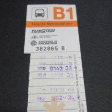 Coleccionismo Billetes de transporte: TARJETA RESISTIVA TUB SAL BADALONA - B1 NARANJA PUBLICIDAD PANS & COMPANY. Lote 87173156