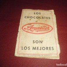 Coleccionismo Billetes de transporte: MAGNIFICA GUIA DE FERROCARRILES DE BARCELONA,DESPLEGABLE POBLICIDAD CHOCOLATES AMATLLER DEL 1932. Lote 89197616