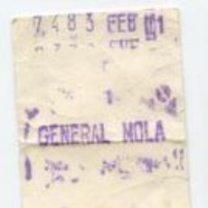 Sammeln von Fahrkarten - FERROCARRIL METROPOLITANO METRO BARCELONA - PARADA GENERAL MOLA /// HOY VERDAGUER - 89298088
