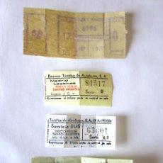 Coleccionismo Billetes de transporte: LOTE 4 BILLETES DE TRANSPORTE ANTIGUOS, MADRID LOECHES Y OTROS.. Lote 89737952