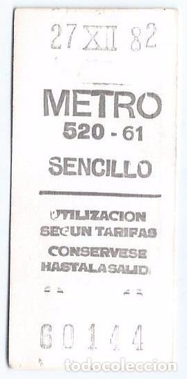 Coleccionismo Billetes de transporte: Metro - Feliz Navidad (1982) - Foto 2 - 70503069