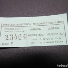 Coleccionismo Billetes de transporte: BILLETE FUNICULAR DE ARTXANDA. Lote 127841548
