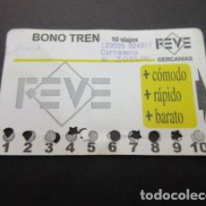Coleccionismo Billetes de transporte: TARJETA FEVE CERCANIAS BONO TREN 10 VIAJES - RENFE. Lote 90664830