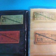 Coleccionismo Billetes de transporte: BILLETES DE TRANVÍA Y BUS. Lote 90788123
