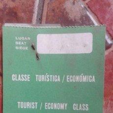 Coleccionismo Billetes de transporte: ANTIGUO BILLETE TASA DE EMBARQUE DE PASAJEROS PORTUGAL LISBOA AEROLINEA CLASE TURISTICA ECONOMICA. Lote 91510815
