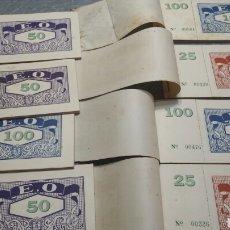 Coleccionismo Billetes de transporte: LOTE 8 TALONARIOS DE TRANSPORTE AÑOS 60. Lote 91607043
