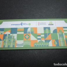 Coleccionismo Billetes de transporte: BILLETE VIAJE INAUGURAL DE LA LINEA T1 DEL TRAM TRAMVIA DE CASTELLON UJI GRAO. Lote 94164770