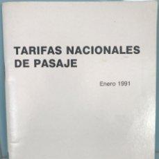 Collezionismo Biglietti di trasporto: IBERIA - TARIFAS NACIONALES DE PASAJE - ENERO 1991 - LÍNEAS AÉREAS DE ESPAÑA. Lote 94714531