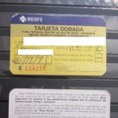 Coleccionismo Billetes de transporte: TARJETA DORADA DE RENFE ---- MODELO 1 --- IMPRESOR URPE S.A.. Lote 95400595