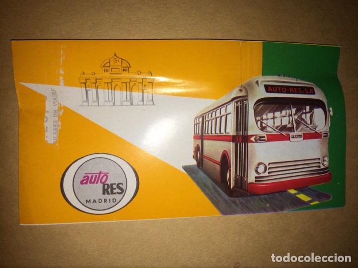 BILLETE AUTO-RES MADRID-CÁCERES 1978 (Coleccionismo - Billetes de Transporte)