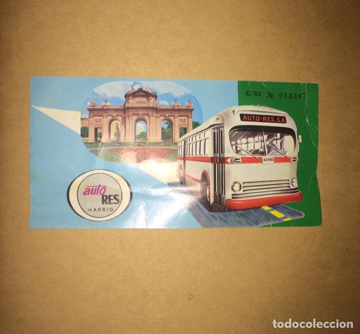 BILLETE AUTO-RES MADRID-CÁCERES 1985 (Coleccionismo - Billetes de Transporte)