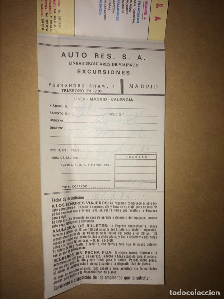 Coleccionismo Billetes de transporte: Billete Auto-Res Madrid-Cáceres 1985 - Foto 2 - 95540560