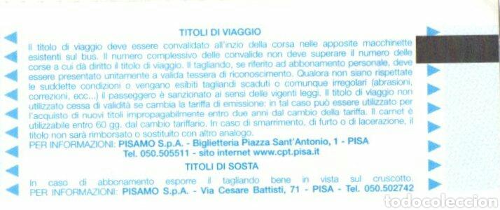 Coleccionismo Billetes de transporte: BILLETE COMPAGNIA PISANA DI TRANSPORTI - Foto 2 - 95565622