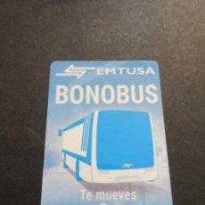 Coleccionismo Billetes de transporte: TARJETA PLASTICO BONO BUS EMPRESA EMTUSA HUELVA. Lote 96483095