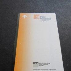 Coleccionismo Billetes de transporte: TARJETA FGC FERROCARRILES . Lote 109293070
