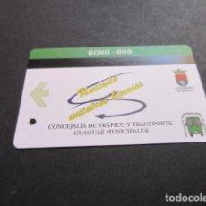 Coleccionismo Billetes de transporte: TARJETA BONO BUS AYUNTAMIENTO ARRECIFE CANARIAS. Lote 96483803
