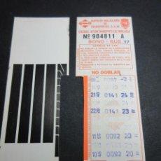 Coleccionismo Billetes de transporte: TARJETA RESISTIVA BONO BUS MALAGA - TODAS TRASERAS DIFERENTES - SIN PUBLICIDAD. Lote 97075727