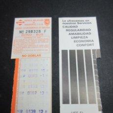 Coleccionismo Billetes de transporte: TARJETA RESISTIVA BONO BUS MALAGA - TODAS TRASERAS DIFERENTES - USE EL BONO BUS. Lote 97075855