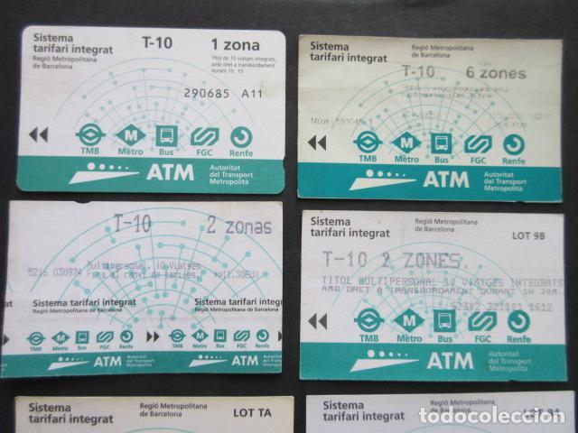 Coleccionismo Billetes de transporte: LOTE DE 21 ANTIGUAS TARJETAS TODAS DIFERENTES LEER INTERIOR T-10 1 ZONA VER DETALLES - Foto 2 - 97368119