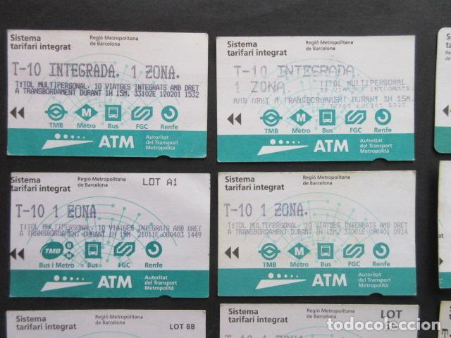 Coleccionismo Billetes de transporte: LOTE DE 21 ANTIGUAS TARJETAS TODAS DIFERENTES LEER INTERIOR T-10 1 ZONA VER DETALLES - Foto 6 - 97368119