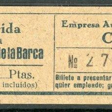 Coleccionismo Billetes de transporte: BILLETE DE AUTOMNIBUS CASTELLA // LERIDA - VILANOVA DE LA BARCA // AÑOS 40 // Z49. Lote 97827015