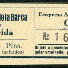 Coleccionismo Billetes de transporte: BILLETE DE AUTOMNIBUS CASTELLA // VILANOVA DE LA BARCA - LERIDA // AÑOS 40 // Z49. Lote 97827047