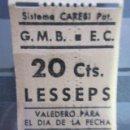 Coleccionismo Billetes de transporte: BILLETE GRAN METRO METROPOLITANO DE BARCELONA PARADA LESSEPS. Lote 98053387