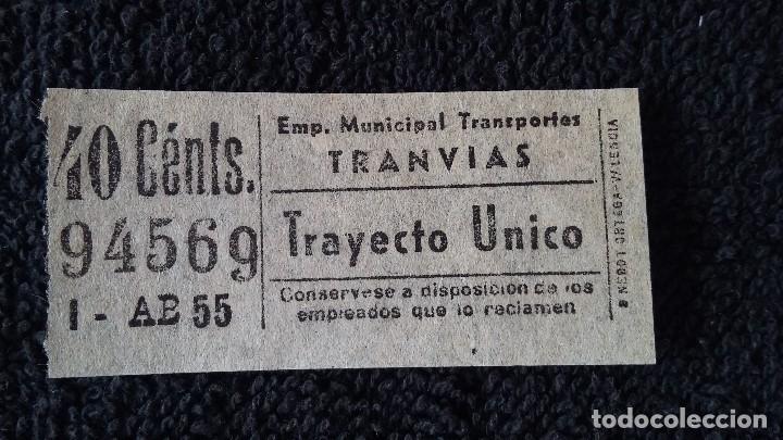 BILLETE TRANVÍA 40 CÉNTS. MADRID (Coleccionismo - Billetes de Transporte)
